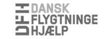 Dansk flygtningehjælp logo