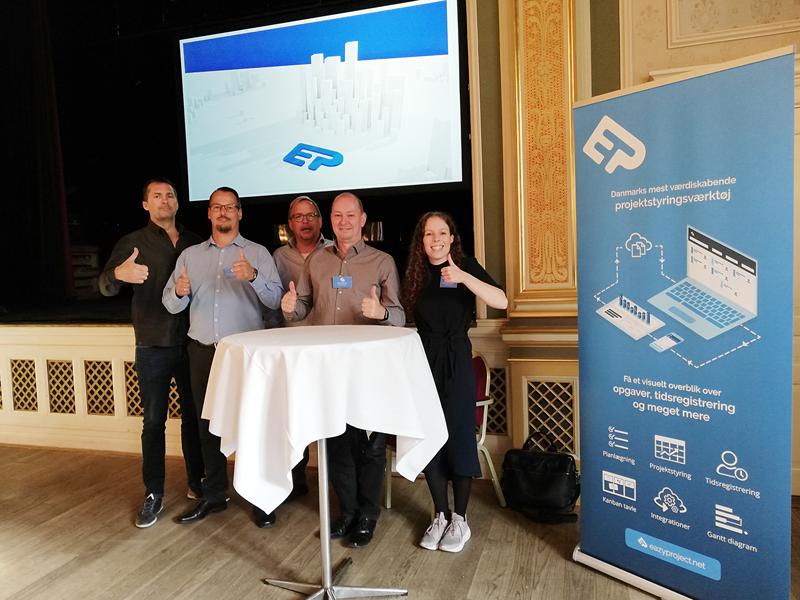 Team Eazyproject paa Prindsen i Roskilde Arkitektdagen