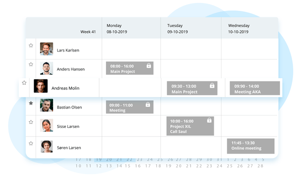 Kalender planlaegning eazyproject