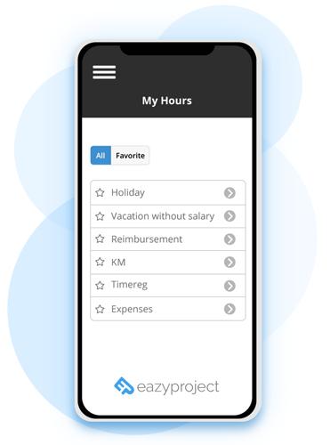 Mine timer i eazyproject webapp
